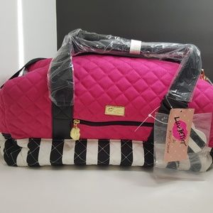 Betsey Johnson Bags - 2Day Sale!Luv Betsey Johnson Canvas Weekender Bag